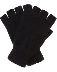 Johnstons | Black Fingerless Cashmere Gloves | Lyst