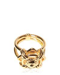Versus Metallic Lion Head Ring for men