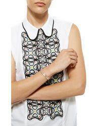 Joelle Jewellery | Metallic Turquoise Lace Bangle | Lyst