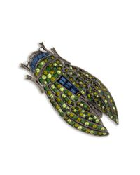 Kenneth Jay Lane | Multicolor Multi Green Cicada Brooch | Lyst
