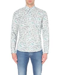 Paul Smith | Multicolor Multi-print Tailored-fit Cotton Shirt - For Men for Men | Lyst