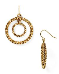Ralph Lauren | Metallic Lauren Double Hoop Earrings | Lyst