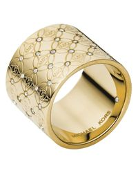 Michael Kors   Metallic Monogram Ring   Lyst