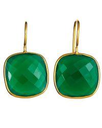 Margaret Elizabeth | Cushion Cut Drops, Green Onyx | Lyst