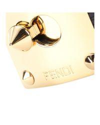 Fendi Metallic Goldmine Snakeskin Cuff