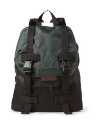 Marc By Marc Jacobs - Green Two-Tone Canvas And Shell Backpack for Men - Lyst