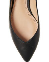 Tory Burch Black Nicki Point-Toe Leather Flats