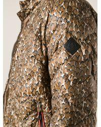 Moncler Brown Men's Warthog Camoflauge Down Jacket Green for men