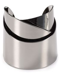 Alexis Bittar | Metallic Miss Havisham Metal Geometric Ribbon Cuff | Lyst