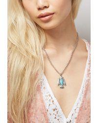 Forever 21 Blue Peyote Bird Turquoise Thunderbird Necklace