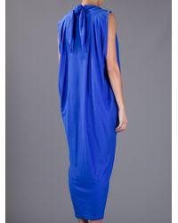 Bernhard Willhelm Blue Draped Maxi Dress