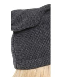 1717 Olive - Gray Purl Knit Slouch Beanie Hat - Lyst