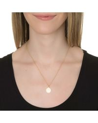 Sarah Chloe | Metallic 14kt Sienna Initial Pendant Necklace | Lyst