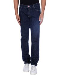 Harmont & Blaine - Blue Denim Trousers for Men - Lyst