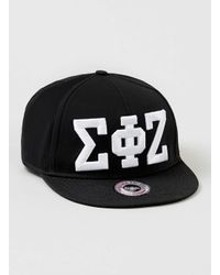 TOPMAN - Black Sigma Phi Zeta Snapback for Men - Lyst