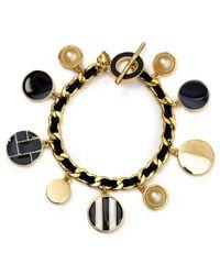 Carolee | Black Charm Chain Bracelet | Lyst