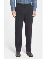 Tommy Bahama | Black 'coastal' Silk Blend Twill Pants for Men | Lyst