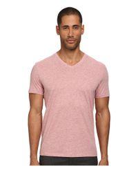 Vince Pink Short Sleeve Pima Cotton V-neck Tee for men
