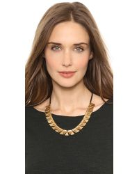 Madewell Metallic Triangle Corded Necklace Vintage Gold