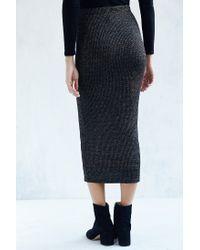 Bardot   Metallic Inez Bodycon Midi Skirt   Lyst