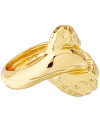 Alexis Bittar - Metallic Gold-Plate Rocky Textured Link Ring - Lyst