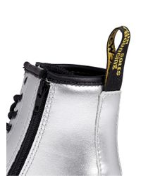 Dr. Martens - Brooklee' Metallic Leather Infant Boots for Men - Lyst