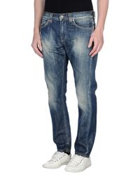 Dondup | Blue Denim Trousers for Men | Lyst