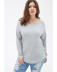 Forever 21 - Gray Plus Size Raglan Knit Top - Lyst