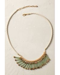 Anthropologie | Green Jade Fringe Necklace | Lyst