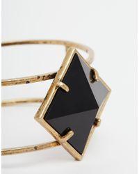 ASOS - Black Pyramid Jewel Cuff - Lyst