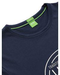 BOSS Blue Boss Green Logo T-shirt for men