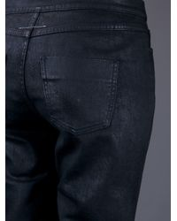MM6 by Maison Martin Margiela Gray Coated Jeans
