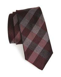 Burberry - Brown 'manston' Check Silk Tie for Men - Lyst