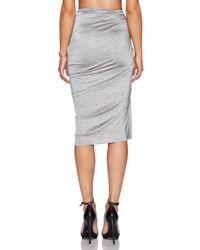 Shakuhachi Gray Marle Fleck Keyhole Skirt