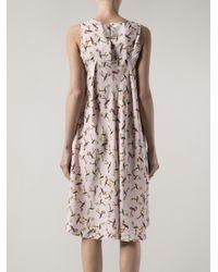 Piamita - Purple Iris Print Dress - Lyst