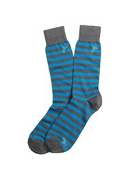 Brooks Brothers | Blue Stripe With Lobster Motif Crew Socks for Men | Lyst