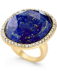 kate spade new york | Blue 12k Gold-plated Semiprecious Pavé Stone Ring | Lyst