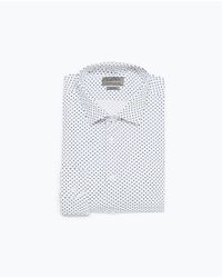 Zara | White Polka Dot Shirt for Men | Lyst