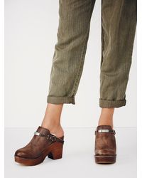 Free People Brown Fp Collection Womens Premier Slip On Clog