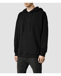 AllSaints - Black Vertigo Hoody for Men - Lyst