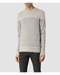 AllSaints | Gray Keel Merino Crew Jumper for Men | Lyst