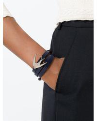 McQ   Blue Swallow Triple Wrap Bracelet   Lyst