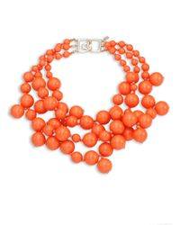 Kenneth Jay Lane | Pink Beaded Statement Necklace | Lyst