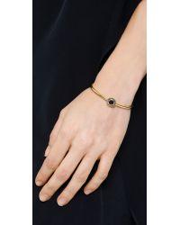 Elizabeth and James - Metallic Erro Bangle Bracelet - Gold/Black - Lyst