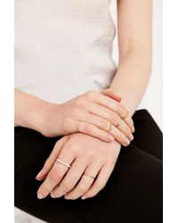 Urban Outfitters - Metallic Geometric Gold Ring Pack - Lyst