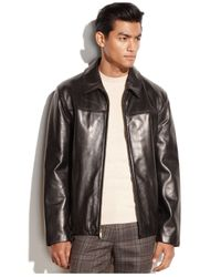 Cole Haan - Black Smooth Leather Jacket for Men - Lyst