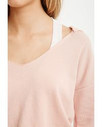 Forever 21 | Orange Hooded Terry Knit Pullover You've Been Added To The Waitlist | Lyst