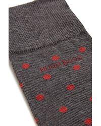 BOSS Gray 'rs Design Us' | Stretch Cotton Blend Socks for men