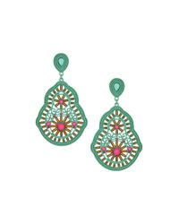 TOPSHOP - Blue Cut Out Bead Decoration Earrings - Lyst