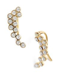 Rebecca Minkoff | Metallic Crystal Ear Climbers | Lyst